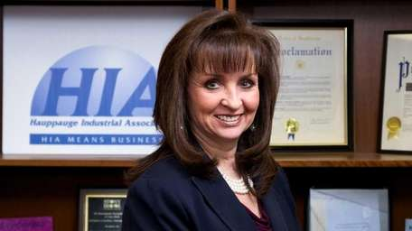 Terri Alessi-Miceli, president of the Hauppauge Industrial Association