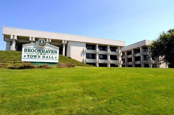 Brookhaven Town Hall is shown in this file