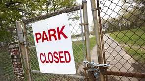 Roberto Clemente Park in Brentwood remained closed as