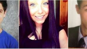 Noah Francis, 15, left, Carly Marie Lonnborg, 14,