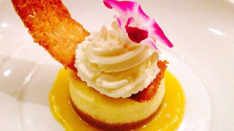 Cheesecake is artfully presented at Ristegio's in North