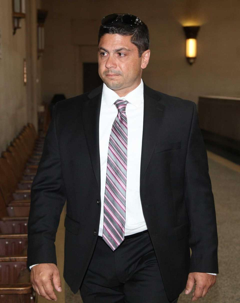 Former Nassau police officer Michael Tedesco, on Wednesday,