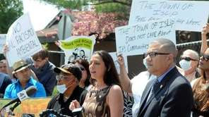 Suffolk County Legislator Monica Martinez, speaks during a