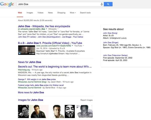 A screenshot of Google search. On May 13,