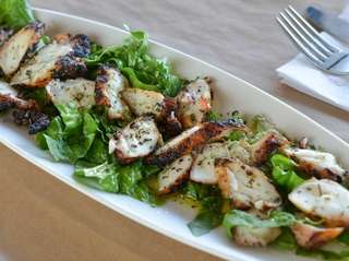 Grilled octopus in extra virgin olive oil is
