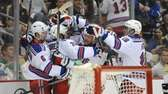 The Rangers' Brian Boyle (22) celebrates with his