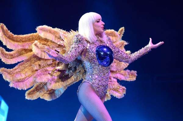 Lady Gaga performs onstage during her