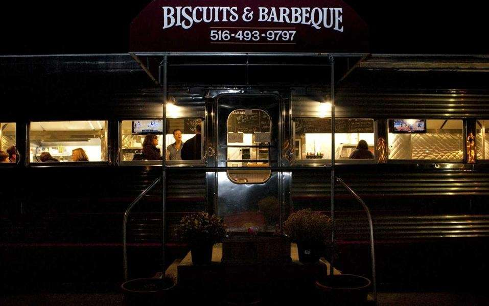 In an atmospheric 1940s vintage railroad-car, Biscuits &