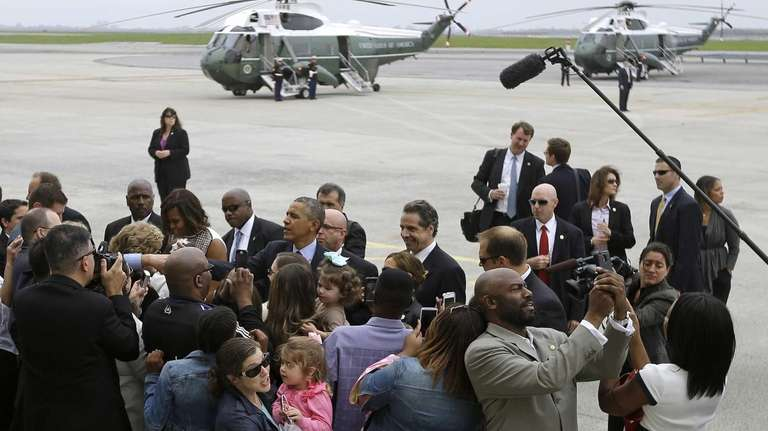 President Barack Obama, first lady Michelle Obama and