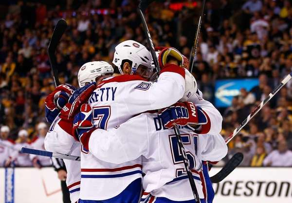Max Pacioretty #67 of the Montreal Canadiens celebrates