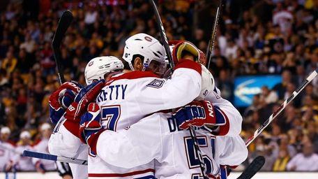 Max Pacioretty #67 of the Montreal Canadiens celebrates