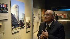 Former New York City Mayor Rudolph Giuliani tours