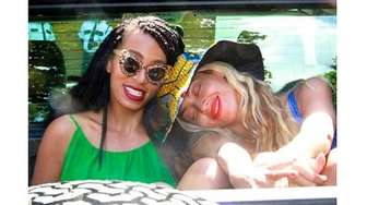 Solange, left, and Beyoncé Knowles, in one of