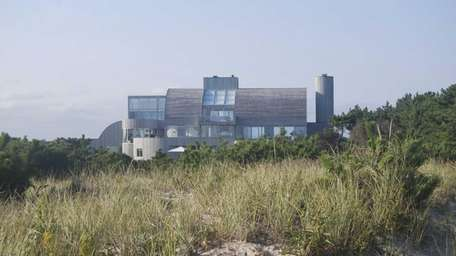 The sculptural, sand castle-like mansion designed by architect