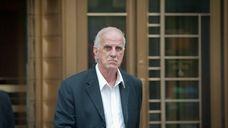 Steven DeStefano, 63, leaves court in Manhattan Thursday,