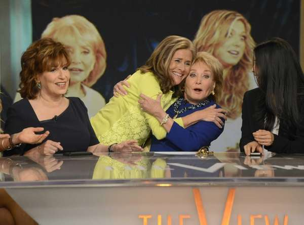 From left, Joy Behar, Meredith Vieira and Barbara