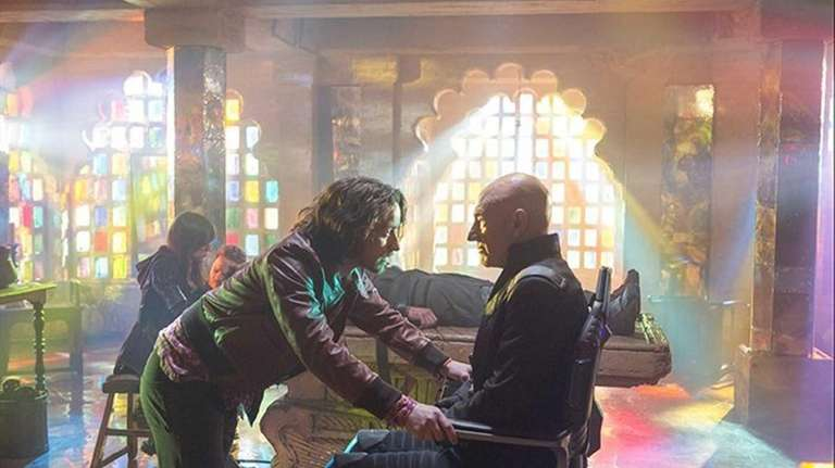 Young Charles Xavier (James McAvoy, left) meets his