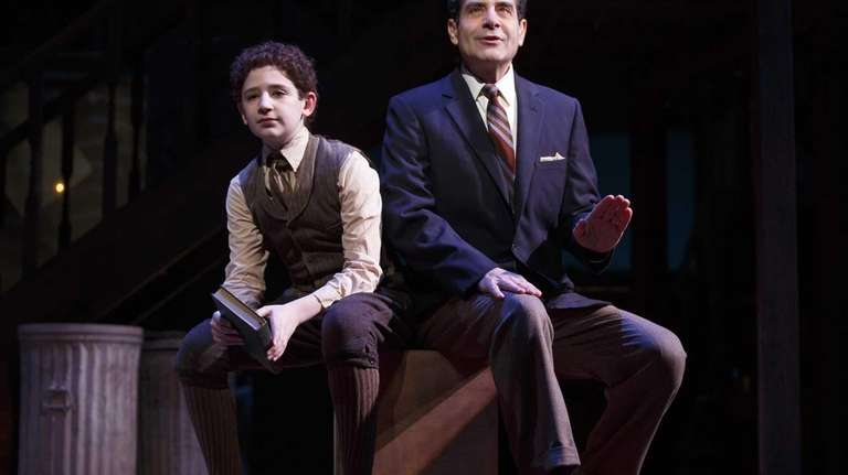 Matthew Schechter, left, and Tony Shalhoub (both playing
