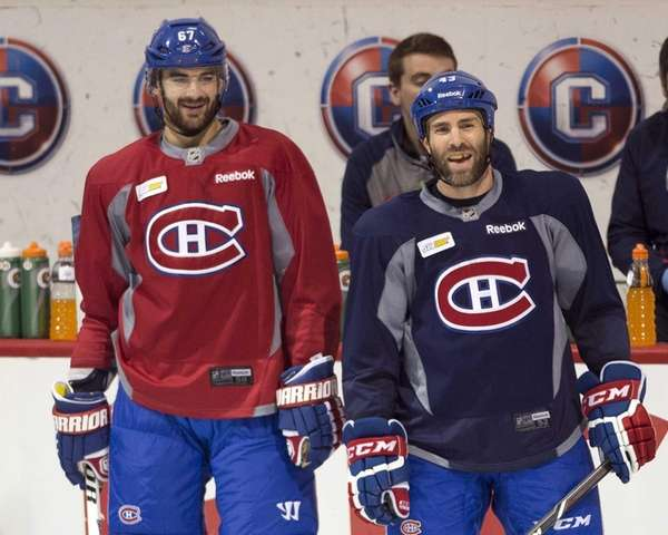 Montreal Canadiens left wing Max Pacioretty, left, and