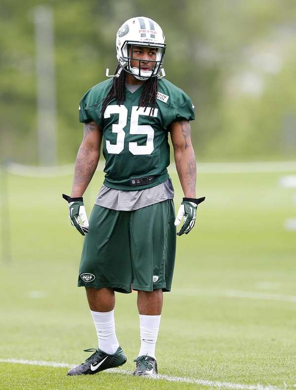 Safety Calvin Pryor of the Jets looks on