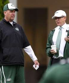 From left, head coach Rex Ryan and owner