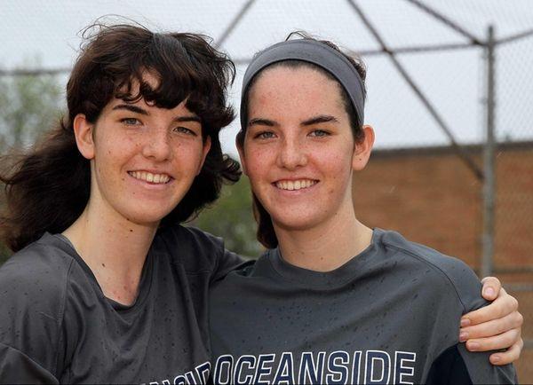 Oceanside sisters Megan, left, and Claire McNamara pose