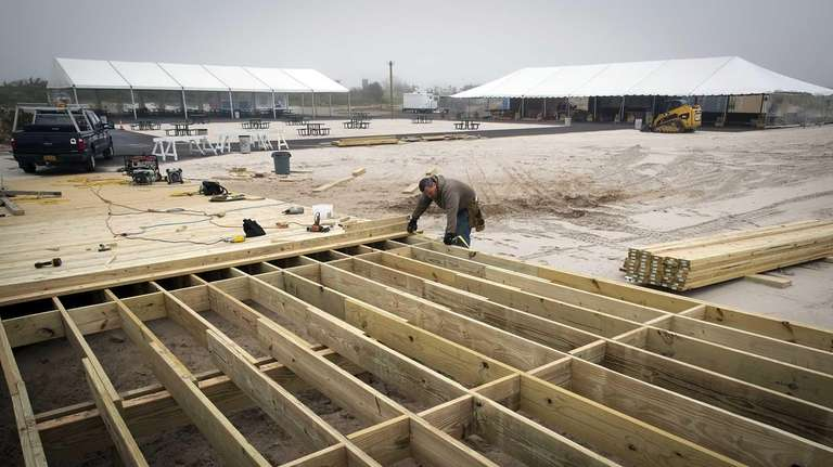 State Park Infrastructure Fund (SPIF) workers set the