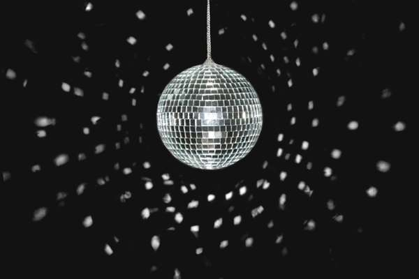 A spinning disco ball ? a symbol of