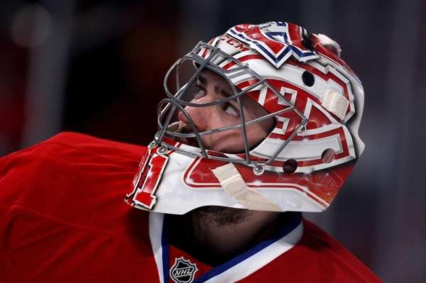 Goaltender Carey Price of the Montreal Canadiens looks