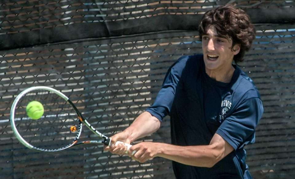 Plainview's Yuval Solomon plays in the Nassau individual