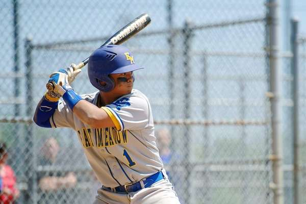 East Meadow's Marcus Kabigting prepares to swing at