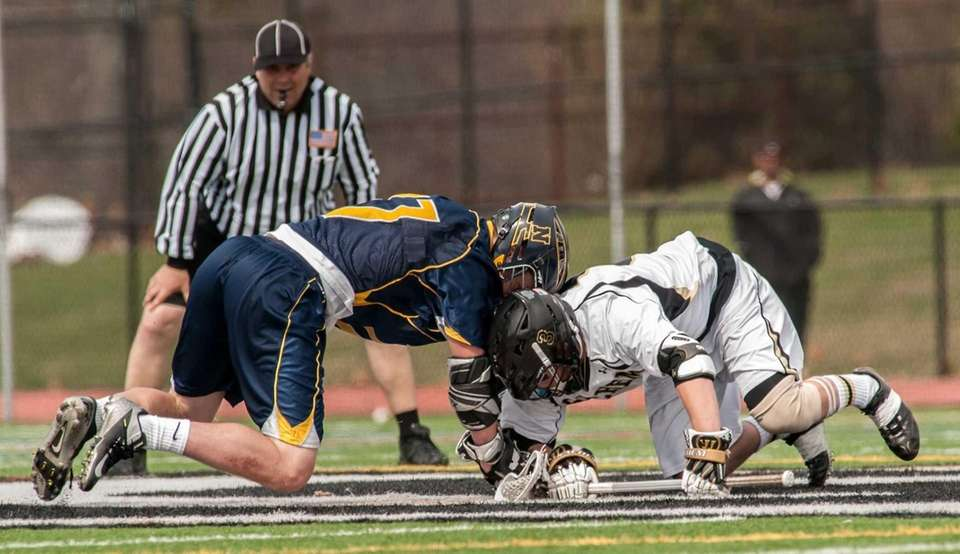 Northport's Austin Henningsen, left, and Sachem North's Michael