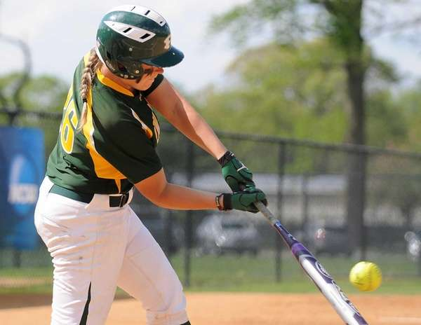 LIU Post catcher Aly Dzierzynski connects for a