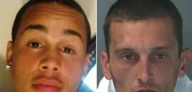 James Moran, 20, of Amityville, left, was fatally