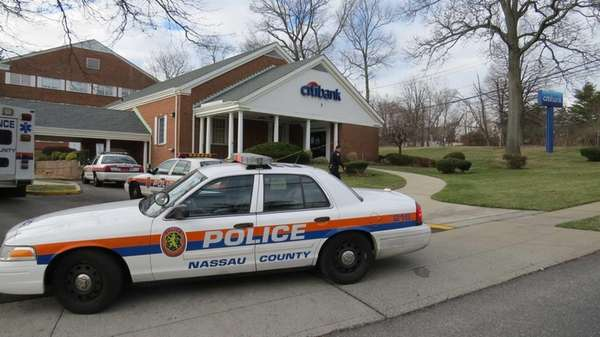 Nassau County police cars in Syosset on Dec.