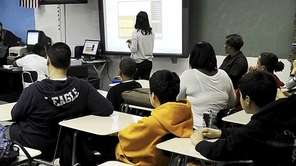 This file photo shows an LI classroom on