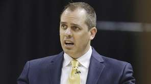 Indiana Pacers head coach Frank Vogel gestures to