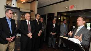 Republican gubernatorial candidate Rob Astorino speaks to supporters