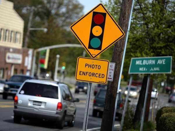 This file photo shows a red light traffic