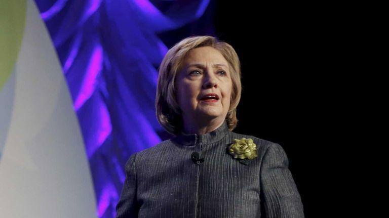 Former Secretary of State Hillary Rodham Clinton speaks