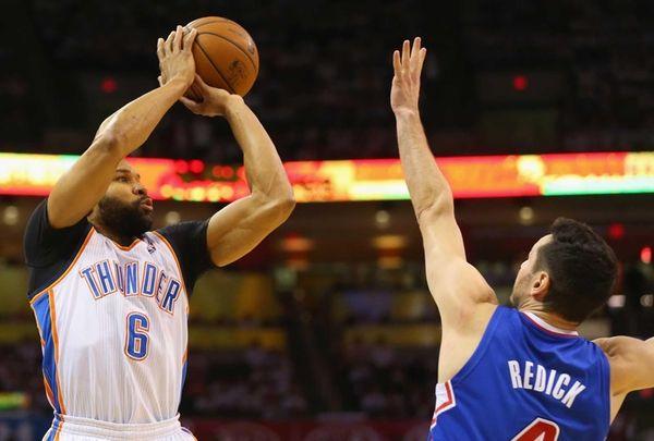 Derek Fisher of the Oklahoma City Thunder takes
