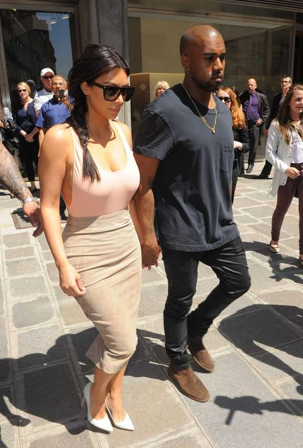 Kim Kardashian and Kanye West go shopping in