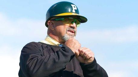 Ward Melville head coach Lou Petrucci gives the
