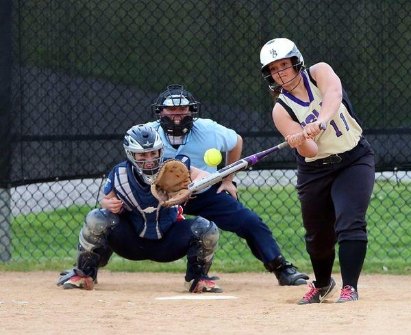 Islip's Nicole Sciara drives a three-run home run