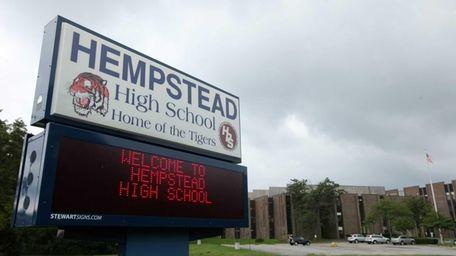Hempstead High School on Aug. 22, 2013.