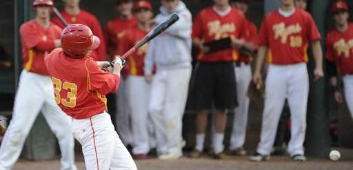 Chaminade's catcher Straton Podaras hits in a run