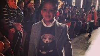 Alicia Keys' son Egypt, 3, walks the runway