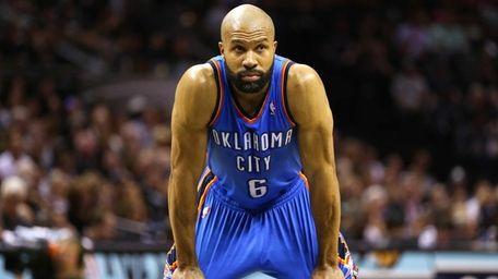 Derek Fisher of the Oklahoma City Thunder looks