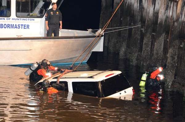 A quick-thinking harbor master rescued a man from