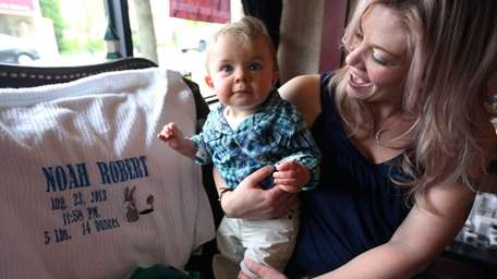 Noah Matyus, born in August 2013, with his